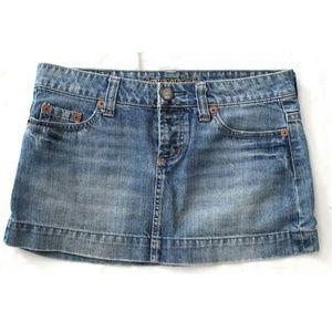American Eagle Jean Skirt Lightly Distressed SZ 2